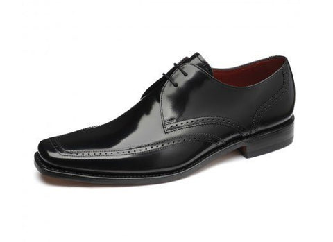 Shoes Men - LOAKE  Harrison Apron Tie Shoe - Black