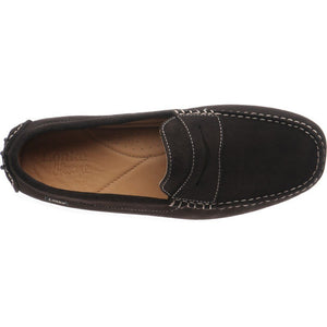 LOAKE  Herbert - Suede Driving Shoes - Dark Brown - c - Ninostyle