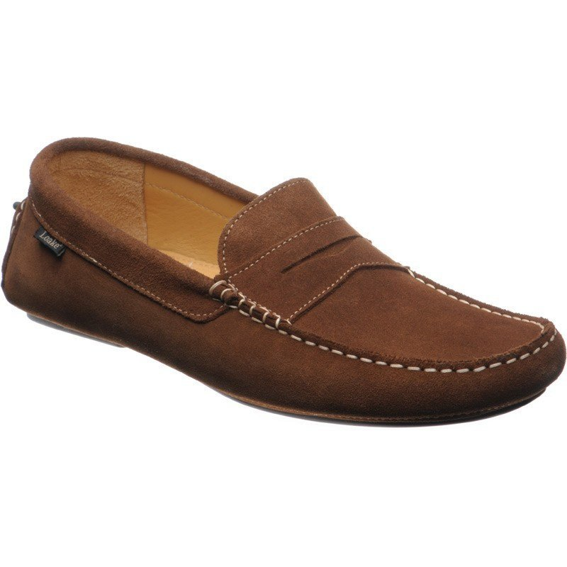 Loake Herbert Suede Driving Shoes Ginger