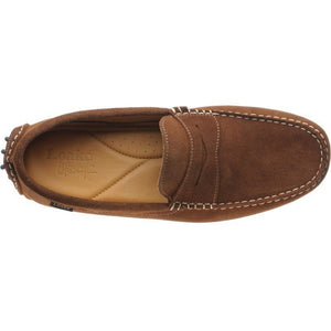 LOAKE  Herbert - Suede Driving Shoes - Ginger - c - Ninostyle