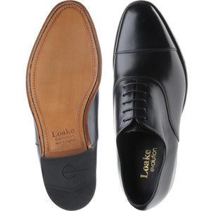 LOAKE Holborn Oxford shoe - Black calf - Ninostyle