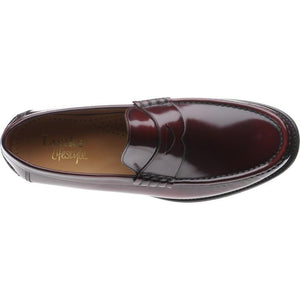 LOAKE Kingston Mocassin Loafers - Burgundy - Top/ Arial