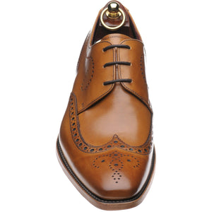 LOAKE Kruger Derby Brogue shoe - Tan Calf - Front View