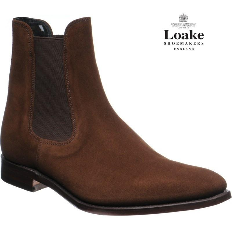 LOAKE  Mitchum Chelsea - Brown Suede - c - Ninostyle