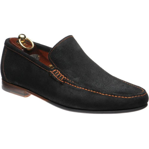 Shoes Men - LOAKE Nicholson Moccasin Shoe - Black Suede