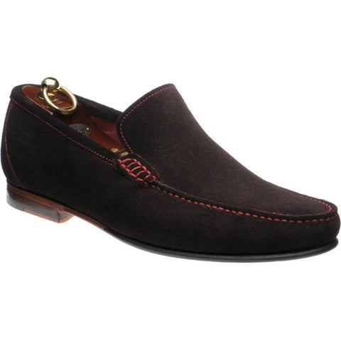 Shoes Men - LOAKE Nicholson Moccasin Shoe - Dark Brown Suede