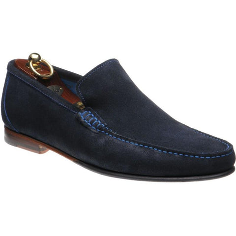 Shoes Men - LOAKE Nicholson Moccasin Shoe - Navy Suede