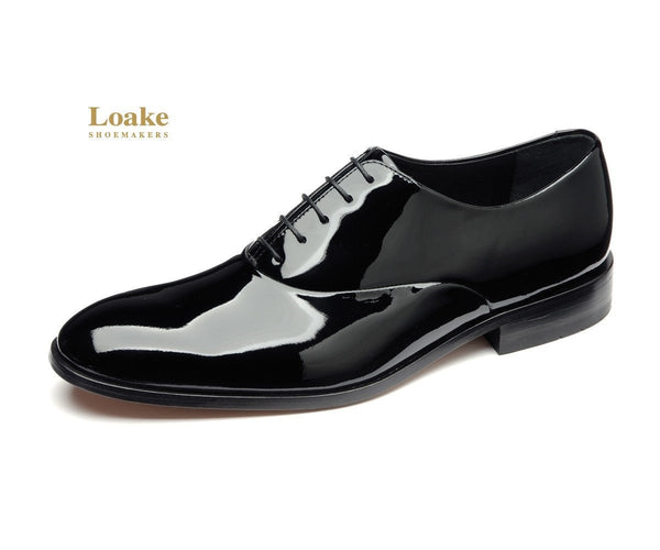 Shoes Men - LOAKE  Patent Leather Dress Shoe - Black