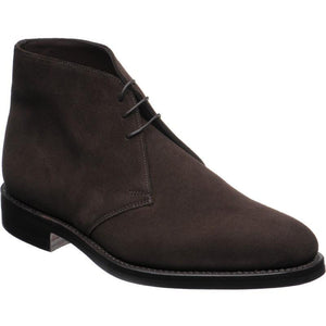 LOAKE Pimlico Chukka boot - Dark Brown Suede - Angle View
