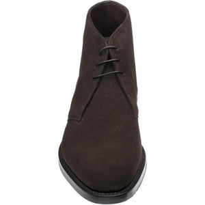 LOAKE Pimlico Chukka boot - Dark Brown Suede - Front View