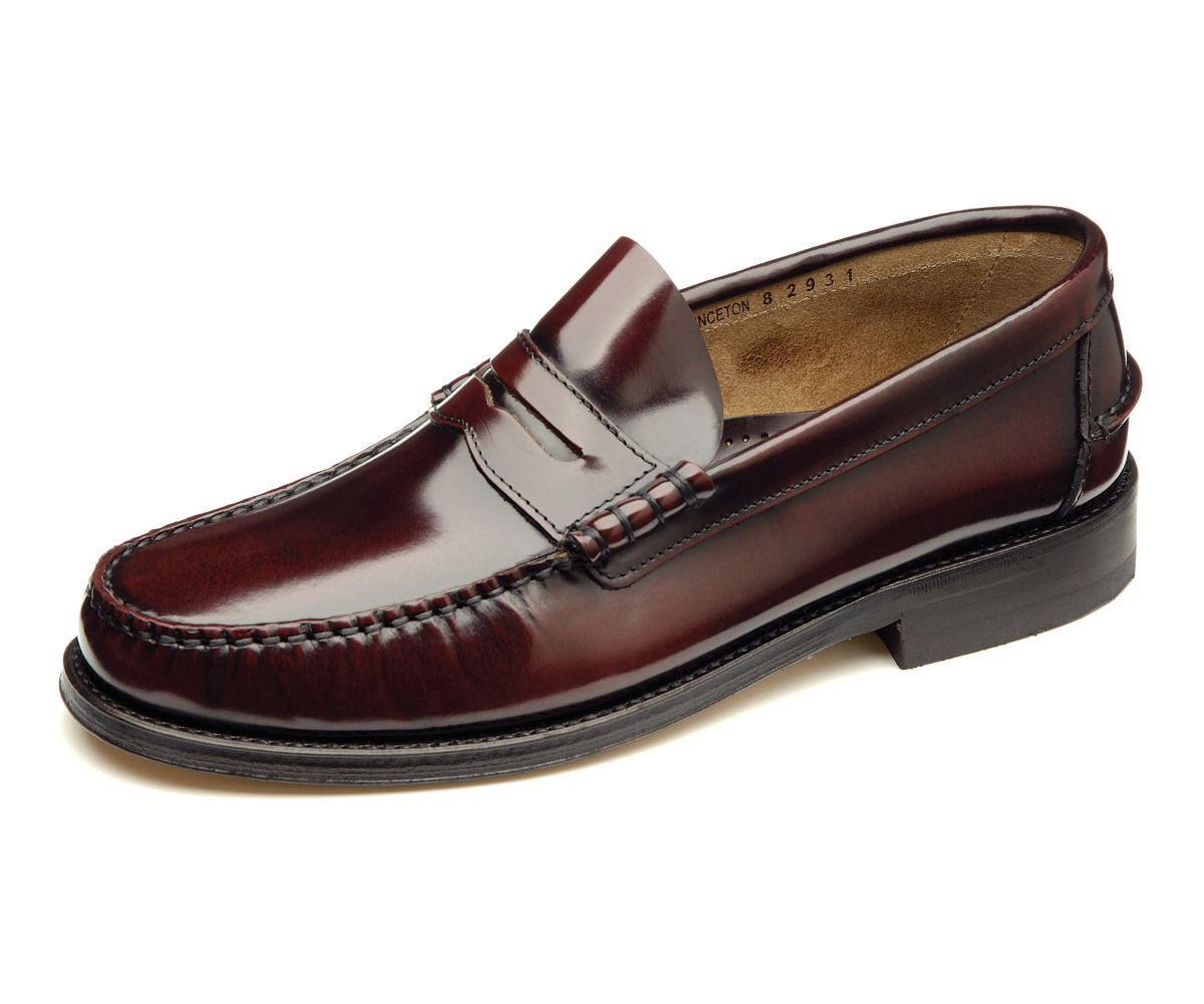 Loake Princeton Mocassin Loafers- Burgundy- Body View