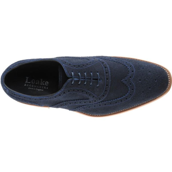 Shoes Men - LOAKE Radley Oxford Brogue Shoe - Navy Suede