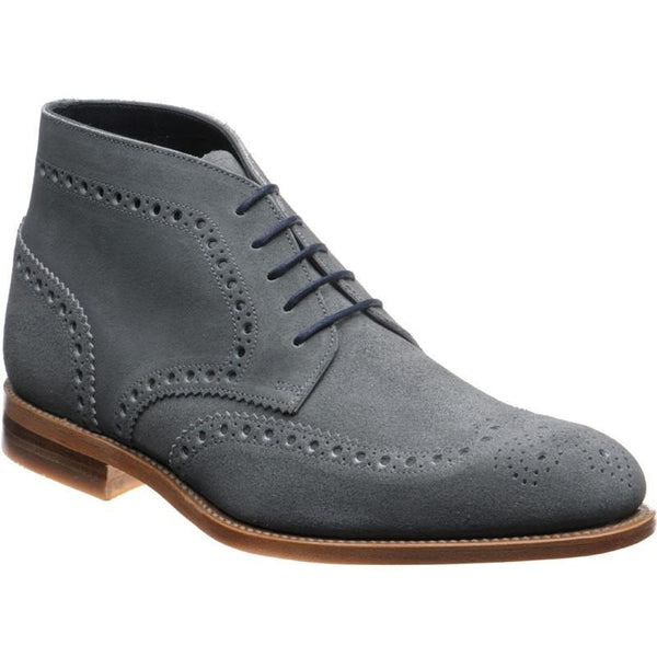 Shoes Men - LOAKE Rogers Derby Brogue Boot - Grey Suede