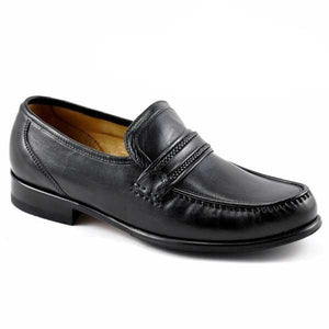 LOAKE Rome Moccasin shoe - Black - Angle View