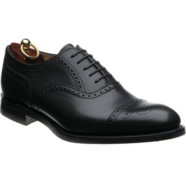 Shoes Men - LOAKE Seaham Brogue Oxford Shoe - Black Calf