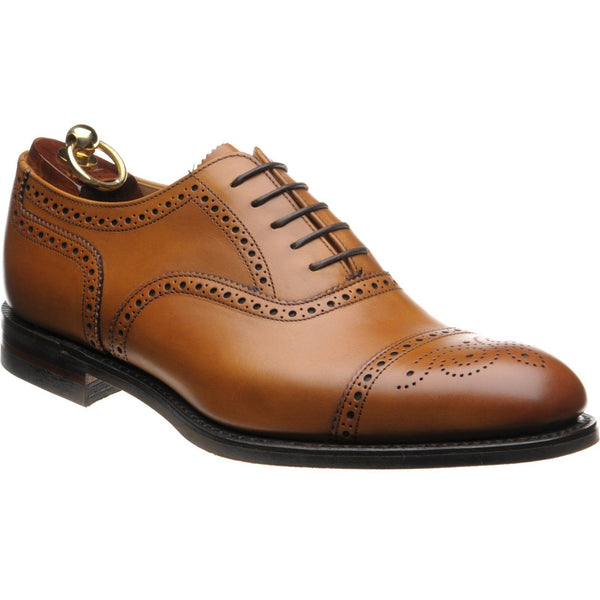 Shoes Men - LOAKE Seaham Brogue Oxford Shoe - Tan Calf