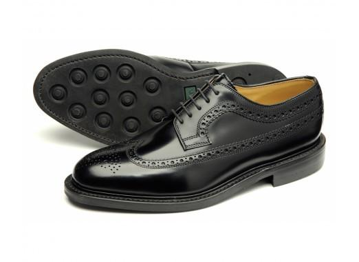 Shoes Men - LOAKE Sovereign Classic Brogue Shoe - Black