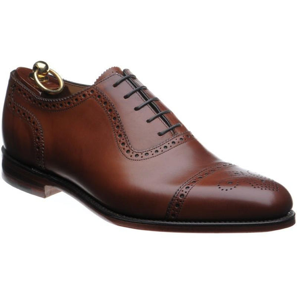 Shoes Men - LOAKE Strand- Premium Semi Brogue Shoes - MAHOGANY