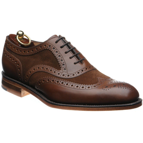 Shoes Men - LOAKE Tarantula Two-tone Oxford Brogue Shoe - Dark Brown/Suede