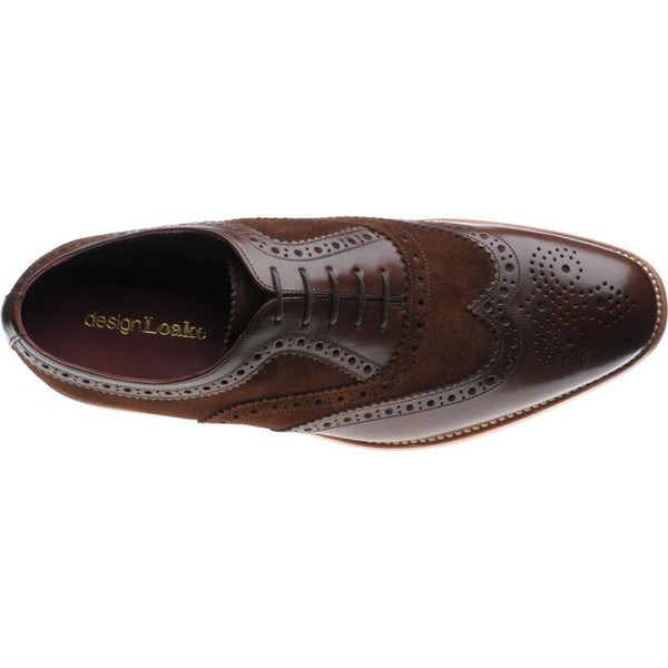 Shoes Men - LOAKE Thompson Two-Tone Brogue Shoe - Brown