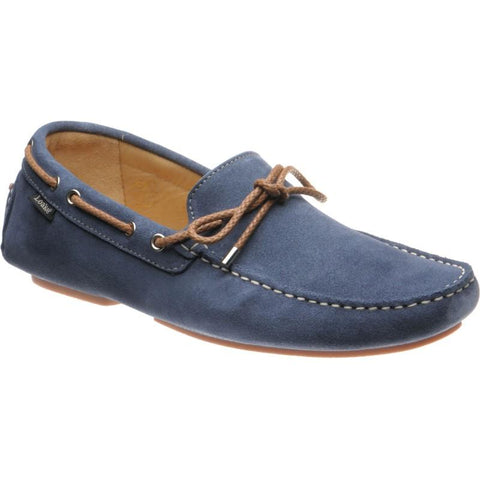Shoes Men - LOAKE  THRUXTON  - Interlace Driving Shoes - LT BLUE SUEDE