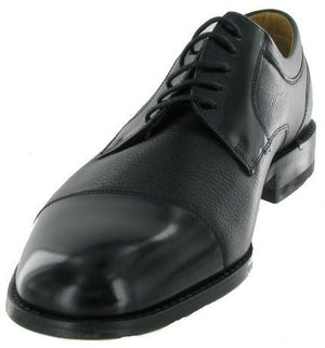 Loake Wantage Black Grain and Polished Leather -  Extra Wide Shoe - Ninostyle