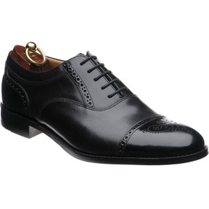 LOAKE Woodstock Two Tone Oxford Shoe - Black - Ninostyle