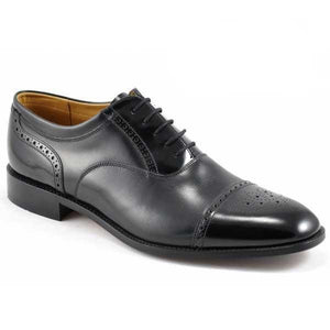 LOAKE Woodstock Two Tone Oxford Shoe - Black - Angle View 2