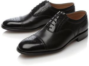 LOAKE Woodstock Two Tone Oxford Shoe - Black - Top View