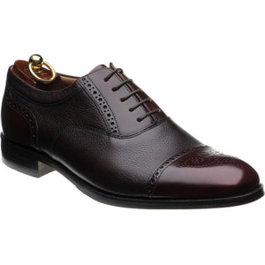 Loake Woodstock Two-Tone Oxford Shoe- Burgundy- Angle View