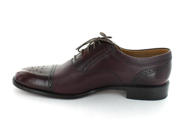 Shoes Men - LOAKE Woodstock Two Tone Oxford Shoe - Burgundy