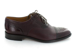 Loake Woodstock Two-Tone Oxford Shoe- Burgundy- Side View