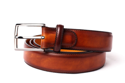 Shoes Men - Magnanni -  Calfskin Belt - Cognac