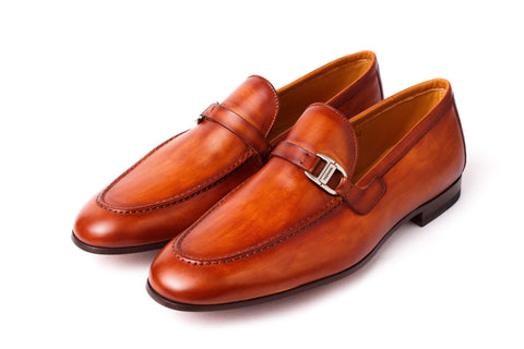 Shoes Men - MAGNANNI - Rico Calfskin Loafer - Cognac