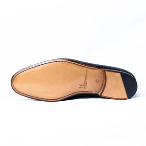 MORESCHI - Cuba Woven kangaroo leather Loafer - Black - Ninostyle