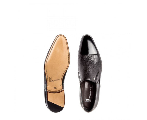 Shoes Men - MORESCHI - Metz Calfskin And Peccary Leather Loafers - Black
