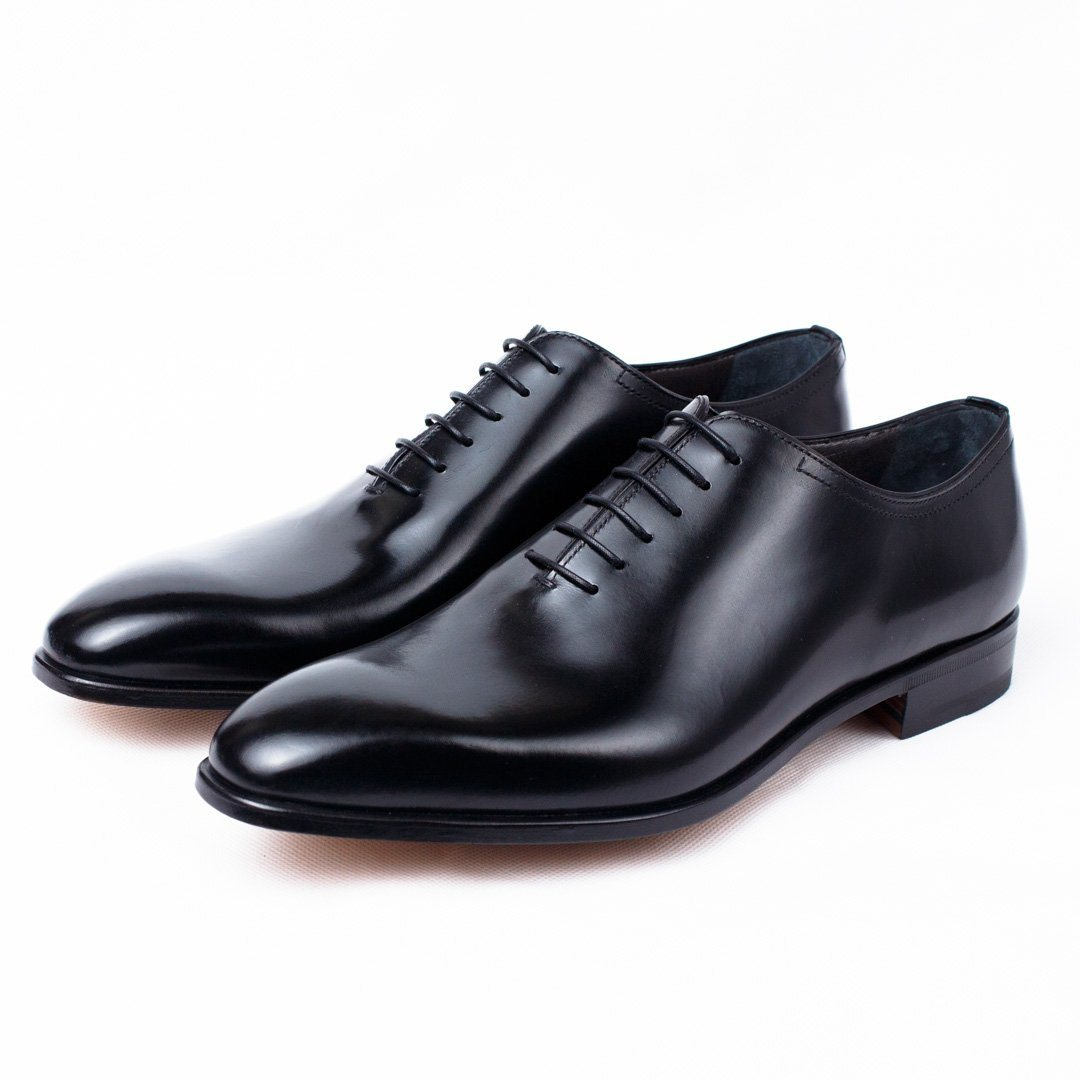 MORESCHI - Montreal Calfskin Oxford shoes - Black - Ninostyle