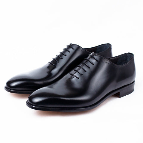 Shoes Men - MORESCHI - Montreal Calfskin Oxford Shoes - Black