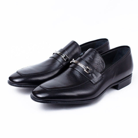 Shoes Men - MORESCHI Santiago Signature Buffalo Leather Loafer - Black