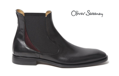 Shoes Men - Oliver Sweeney Nuxis Black Leather Chelsea Boot