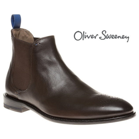 Shoes Men - Oliver Sweeney Silsden Brogue Toe Chelsea Boots - Brown