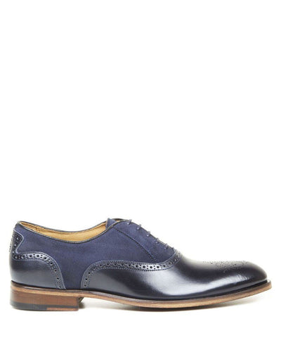 Shoes Men - Oliver Sweeney Tondela Leather & Suede Brogue - Navy