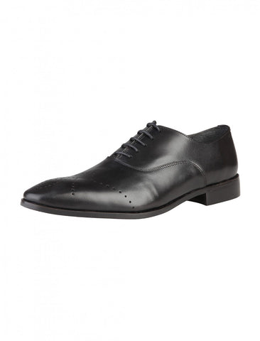 Shoes Men - ROCHAS - Leather LaceUp Shoes - Black