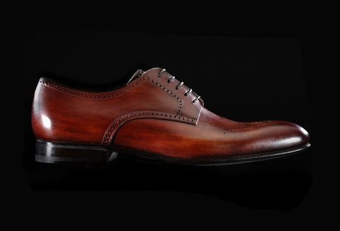 Shoes Men - Shoes Nottingam - Red Wine - P. Ciccone