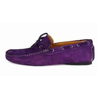 Shoes Men - SPARCO Drivers - Mocassin - Purple Suede