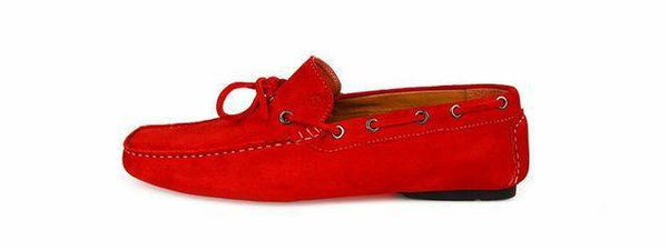Shoes Men - SPARCO Drivers - Mocassin - Red Suede