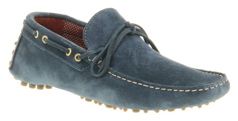 Shoes Men - Sydney Driving Shoes - Blue Suede - Poste