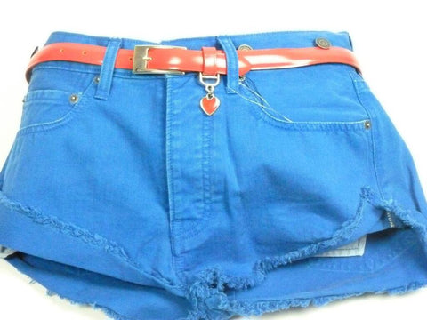 Shorts - Women - Levi's Denim Shorts Ladies- Electric Blue (Medium)