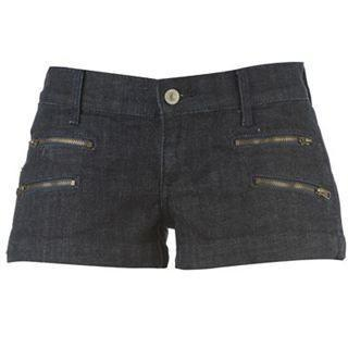 Shorts - Women - Voodoo Dolls Denim Shorts Ladies- Blue
