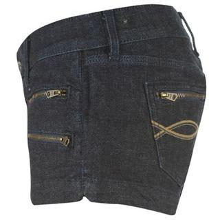 Voodoo Dolls Denim Shorts Ladies- Blue - Ninostyle